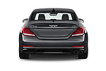 Straight rear view of 2020 Genesis G70 Prestige 4 Door Sedan Rear View  stock images