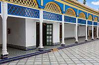 Marrakesh, Morocco.  Bahia Palace, 19th. Century.  Interior Courtyard.