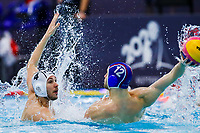 14-02-2021: Waterpolo: France v Russia: Rotterdam<br /> <br /> ROTTERDAM, NETHERLANDS - FEBRUARY 14: Nicolas Missy of France, Roman Shepelev of Russia during the Olympic Waterpolo Qualification Tournament 2021 match between France and Russia at Zwemcentrum Rotterdam on February 14, 2021 in Rotterdam, Netherlands (Photo by Marcel ter Bals/Orange Pictures)