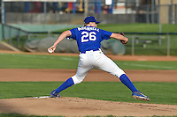 Ogden Raptors starting pitcher Rob McDonnell (26) delivers a pitch to the plate against the Grand Junction Rockies in Pioneer League action at Lindquist Field on August 26, 2016 in Ogden, Utah. The Raptors defeated the Rockies 6-5. (Stephen Smith/Four Seam Images)