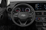 Car pictures of steering wheel view of a 2020 Hyundai i10 Twist 5 Door Hatchback Steering Wheel