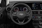 Car pictures of steering wheel view of a 2020 Hyundai i10 Twist 5 Door Hatchback Steering Wheel
