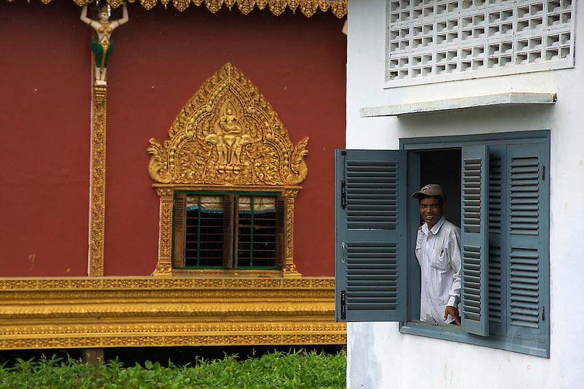 Monastery on the Tonle Sap Lake Cambodia