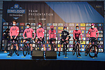 EF Education-Nippo at sign on before the start of the 76th edition of Omloop Het Nieuwsblad 2021 running 200km from Gent to Ninove, Belgium. 27th February 2021  <br /> Picture: Serge Waldbillig | Cyclefile<br /> <br /> All photos usage must carry mandatory copyright credit (© Cyclefile | Serge Waldbillig)