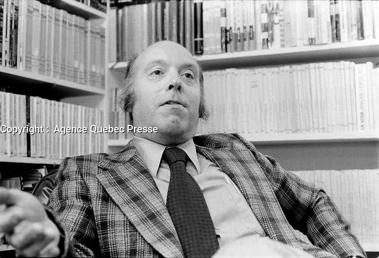 Claude Morin<br /> , le 14 novembre 1973, a Quebec<br /> <br /> Photo : Agence Quebec Presse