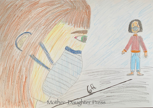 Stay safe- Epidemic art by Abby Heselton Grade 6a, Yarmouth, ME, USA