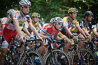 riders concentrated for the go at the start grid; Lars Van der Haar (NLD/Giant-Shimano) getting low on the bike<br /> <br /> GP Neerpelt 2014