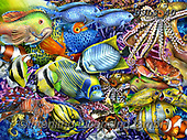 Lori, REALISTIC ANIMALS, REALISTISCHE TIERE, ANIMALES REALISTICOS, paintings+++++Savvy Swimmers_2_brighter_27X20_2017_72,USLS40,#A#, EVERYDAY ,puzzles ,puzzles