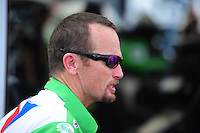 Mar. 9, 2012; Gainesville, FL, USA; NHRA funny car driver Jack Beckman during qualifying for the Gatornationals at Auto Plus Raceway at Gainesville. Mandatory Credit: Mark J. Rebilas-