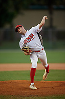 Addison Sells during the WWBA World Championship at the Roger Dean Complex on October 19, 2018 in Jupiter, Florida.  Addison Sells is a left handed pitcher from Helotes, Texas who attends Sandra Day O'Connor High School.  (Mike Janes/Four Seam Images)