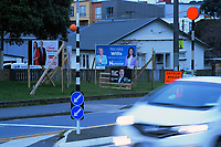 2020 New Zealand election hoardings on John Street in Wellington, New Zealand on Sunday, 2 August 2020. Photo: Dave Lintott / lintottphoto.co.nz