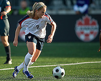 25 May 09:  USA National forward Amy Rodrigues #8 in action in an International Friendly soccer game between the US Women's Team and the Canadian Women's Team at BMO Field in Toronto..The US Women's Team won 4-0..