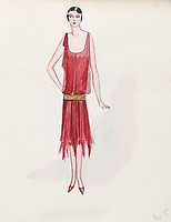 BNPS.co.uk (01202 558833)<br /> Pic: AuctionHub/BNPS<br /> <br /> Pictured: Autumn 1927.<br /> <br /> A collection of fashion illustrations owned by Cecil Beaton have emerged for sale for £20,000.<br /> <br /> The drawings were given to the current seller, who has not been identified, by society and fashion photographer and costume designer Beaton as a thank you gift.<br /> <br /> Totalling over 500 designs from the 1920s and 30s, the illustrations have now been put up for auction with The Auction Hub, based in Westbury, Wiltshire.<br /> <br /> Cecil Beaton was an influential photographer, working for Vogue and Vanity Fair, as a war photographer, and taking society portraits of the Royal family and a host of celebrities.