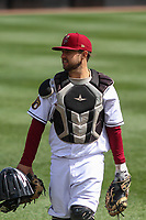 Wisconsin Timber Rattlers catcher Nick Kahle (16) prior to a game against the Cedar Rapids Kernels on September 8, 2021 at Neuroscience Group Field at Fox Cities Stadium in Grand Chute, Wisconsin.  (Brad Krause/Four Seam Images)