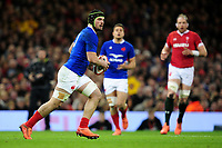 Gregory Alldritt of France in action during the Guinness Six Nations Championship Round 3 match between Wales and France at the Principality Stadium in Cardiff, Wales, UK. Saturday 22 February 2020