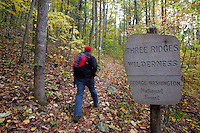 Hiking Three Ridges Mountain in Nelson County, Virginia. Photo/Andrew Shurtleff