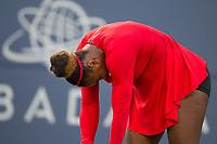 San Jose, CALIFORNIA - Tuesday July 31, 2018: Briton Johanna Konta beat Serena Williams 6-1 6-0 at Silicon Valley Classic in San Jose.