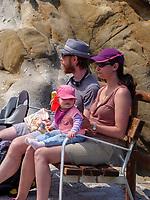 Besucher am Capo Sant'Andrea, Elba, Region Toskana, Provinz Livorno, Italien, Europa<br /> Visitors at Sant'Andrea, Elba, Region Tuscany, Province Livorno, Italy, Europe
