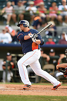 Houston Astros first baseman Japhet Amador (75) during a spring training game against the Miami Marlins on March 21, 2014 at Osceola County Stadium in Kissimmee, Florida.  Miami defeated Houston 7-2.  (Mike Janes/Four Seam Images)