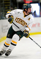 18 October 2009: University of Vermont Catamount defenseman Patrick Cullity, a Senior from Tewsbury, MA, in action during the first period against the Boston College Eagles at Gutterson Fieldhouse in Burlington, Vermont. The Catamounts defeated the Eagles 4-1 to open Vermont's America East hockey season. Mandatory Credit: Ed Wolfstein Photo
