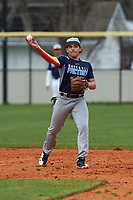 Liam Moreno (1) of Sun Prairie, Wisconsin during the Baseball Factory All-America Pre-Season Rookie Tournament, powered by Under Armour, on January 13, 2018 at Lake Myrtle Sports Complex in Auburndale, Florida.  (Michael Johnson/Four Seam Images)