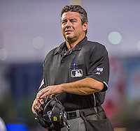 20 May 2014: MLB Umpire Rob Drake works a game between the Cincinnati Reds and the Washington Nationals at Nationals Park in Washington, DC. The Nationals defeated the Reds 9-4 to take the second game of their 3-game series. Mandatory Credit: Ed Wolfstein Photo *** RAW (NEF) Image File Available ***
