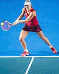 Angelique Kerber of Germany in action against Kurumi Nara of Japan  against  during the WTA Prudential Hong Kong Tennis Open at the Victoria Pack Stadium on 15 October 2015 in Hong Kong, China. Photo by Aitor Alcalde / Power Sport Images