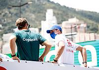 23rd May 2021; Principality of Monaco; F1 Grand Prix of Monaco,   Race Day;   5 Sebastian Vettel GER, Aston Martin Cognizant F1 Team, 47 Mick Schumacher GER, Haas F1 Team, F1 Grand Prix of Monaco at Circuit de Monaco