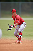 St. Louis Cardinals Andy Young (3) during a minor league Spring Training game against the Washington Nationals on March 27, 2017 at the Roger Dean Stadium Complex in Jupiter, Florida.  (Mike Janes/Four Seam Images)