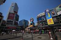 TToronto (ON) CANADA - July 2012 -Dundas square beside  EATON CENTRE