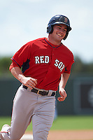 Boston Red Sox Andrew Noviello (29) during an instructional league game against the Minnesota Twins on September 26, 2015 at CenturyLink Sports Complex in Fort Myers, Florida.  (Mike Janes/Four Seam Images)