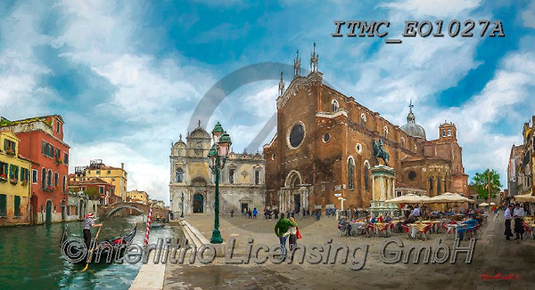 Marcello, LANDSCAPES, LANDSCHAFTEN, PAISAJES, paintings+++++,ITMCEO1027A,#l#, EVERYDAY ,venice ,puzzles