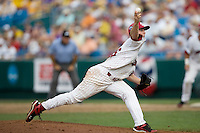 South Carolina's Sam Dyson in Game 7 of the NCAA Division One Men's College World Series on Monday June 22nd, 2010 at Johnny Rosenblatt Stadium in Omaha, Nebraska.  (Photo by Andrew Woolley / Four Seam Images)