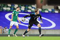 7th September 2020; Windsor Park, Belfast, County Antrim, Northern Ireland; EUFA Nations League, Group B, Northern Ireland versus Norway; Goalkeeper Bailey Peacock-Farrell of Northern Ireland puts the ball back in play