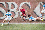 Argentina vs Canada during their Plate Semi-final as part of the HSBC Hong Kong Rugby Sevens 2017 on 09 April 2017 in Hong Kong Stadium, Hong Kong, China. Photo by Victor Fraile / Power Sport Images