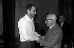 VITTORIO GASSMAN CON SANDRO PERTINI - TEATRO QUIRINO ROMA 1980