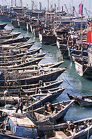 Fishing fleet on Meizhou Island, China. Fujian's rugged coastline is famed for smuggling. .