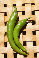 Heirloom Pepper Yastofusa, Japanese Chile, from the early 1900s, a kind of Chile de Arbol, Asian antique variety, hot pepper