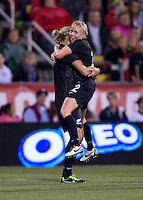 Hannah Wilkinson, Betsy Hassett. The USWNT tied New Zealand, 1-1, at an international friendly at Crew Stadium in Columbus, OH.