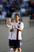 Kamani Hill applauds the crowd. The USA defeated China, 4-1, in an international friendly at Spartan Stadium, San Jose, CA on June 2, 2007.