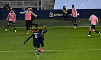 KANSAS CITY, KS - NOVEMBER 22: Sporting KC celebrate Busio's goal in the final minutes of the game before a game between San Jose Earthquakes and Sporting Kansas City at Children's Mercy Park on November 22, 2020 in Kansas City, Kansas.