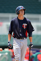 GCL Twins outfielder Zach Larson (24) during a game against the GCL Red Sox on July 19, 2013 at JetBlue Park at Fenway South in Fort Myers, Florida.  GCL Red Sox defeated the GCL Twins 4-2.  (Mike Janes/Four Seam Images)
