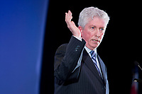 Bloc Quebecois leader Gilles Duceppe talks at the Federation of Canadian Municipalities (FCM) congress in Quebec city Friday May 30, 2008.<br /> <br /> PHOTO :  Francis Vachon - Agence Quebec Presse