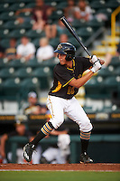 Bradenton Marauders shortstop Cole Tucker (18) at bat during a game against the Fort Myers Miracle on August 3, 2016 at McKechnie Field in Bradenton, Florida.  Bradenton defeated Fort Myers 9-5.  (Mike Janes/Four Seam Images)