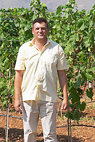 The vineyard manager UNK UNK. Vranac grape variety. Hercegovina Vino, Mostar. Federation Bosne i Hercegovine. Bosnia Herzegovina, Europe.