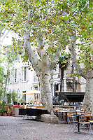 restaurant terrace water wheel r des teinturiers avignon rhone france