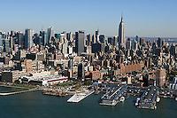 aerial photograph Chelsea Piers, Manhattan, New York City