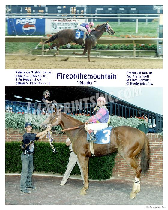 Fireonthemountain winning at Delaware Park on 10/2/2002