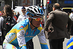 Alexander Vinokourov (KAZ) Astana Pro Team heads to check out the course before the Prologue of the 99th edition of the Tour de France 2012, a 6.4km individual time trial starting in Parc d'Avroy, Liege, Belgium. 30th June 2012.<br /> (Photo by Eoin Clarke/NEWSFILE)