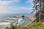 Kalaloch, Beach 4.  Beaches in the Kalaloch area of Olympic National Park, identified by trail numbers, are remote and wild.  Olympic Peninsula, Olympic Mountains, Olympic National Park, Washington State, USA.